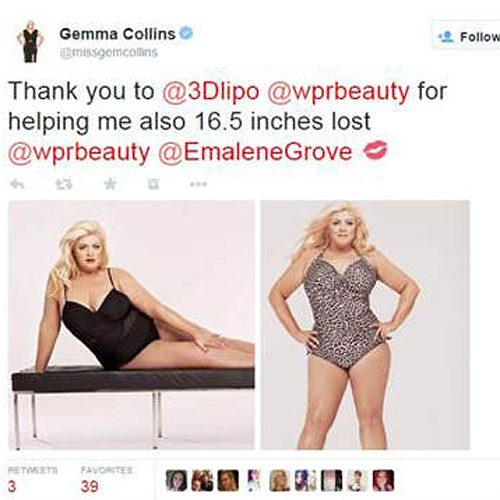 The TOWIE star has boasted about losing inches off her waist too