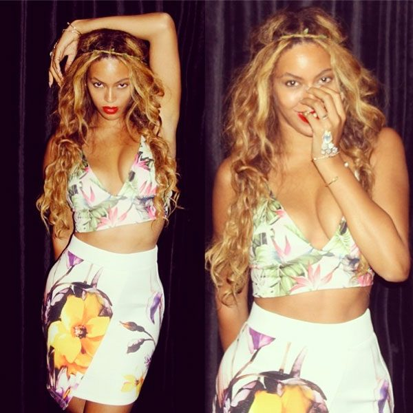 Beyoncé looks gorgeous in her Topshop outfit
