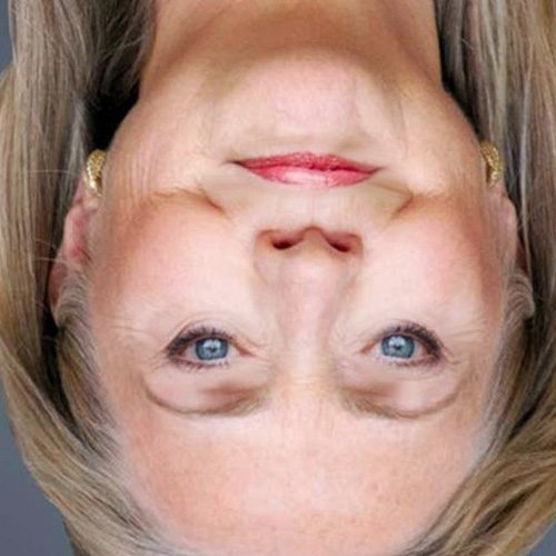Even Hillary Clinton had her photo flipped