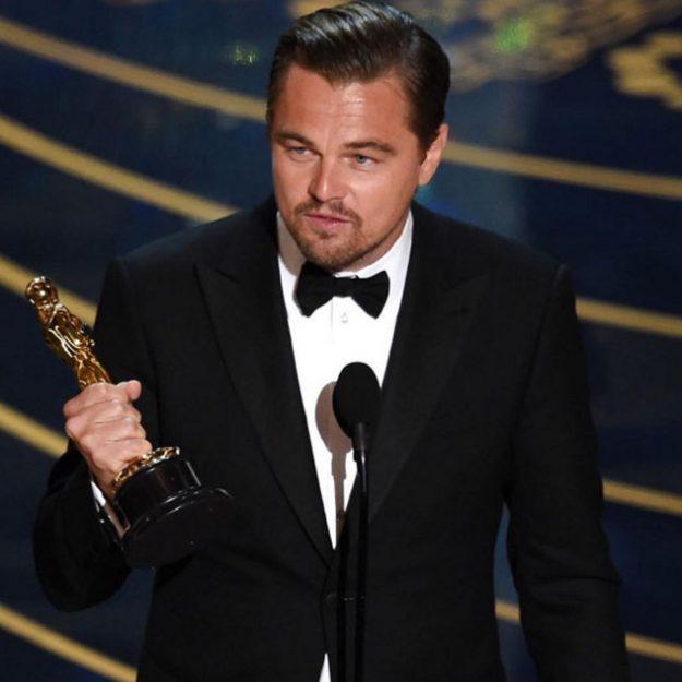 Erin Heatherton tweeted this snap Leonardo DiCaprio picking up the Best Actor award
