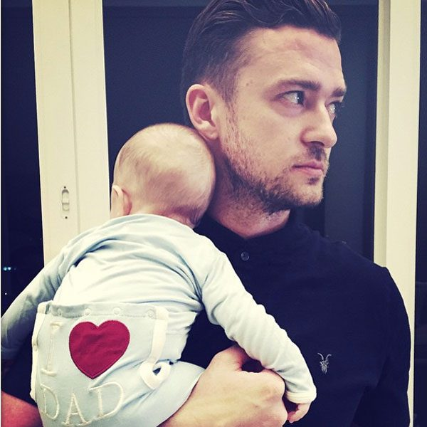 Justin Timberlake enjoys his first Father's Day with his two-month-old son, Silas Randall