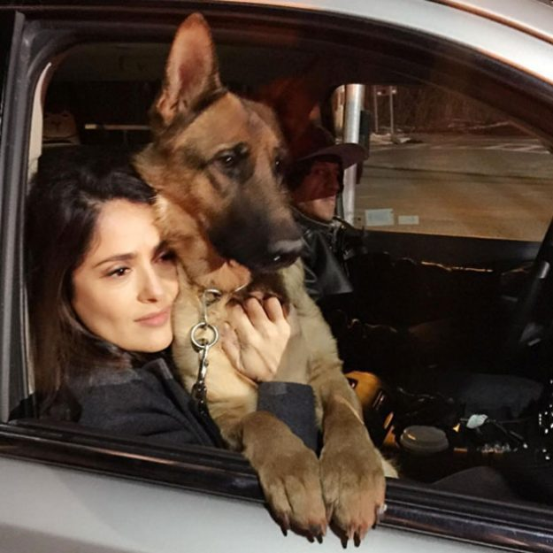 Salma Hayek has been left devastated by the death of her dog