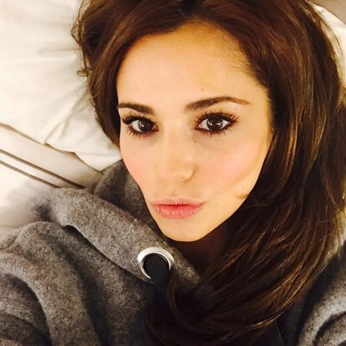 Cheryl posed for a selfie as fans showed their support for the singer