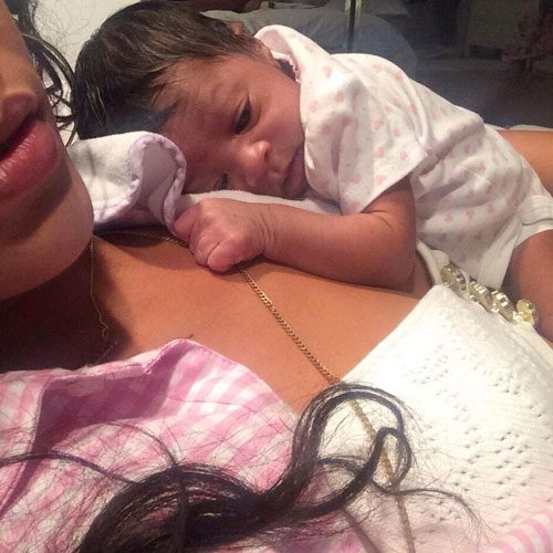 Rihanna played doting babysitter to her newborn niece