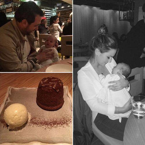 Sam Faiers and Paul Knightley enjoyed a family night out