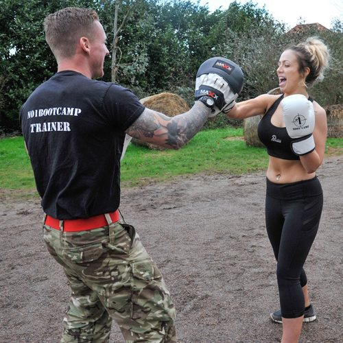 Holly Hagan was pushed to the limit at the bootcamp