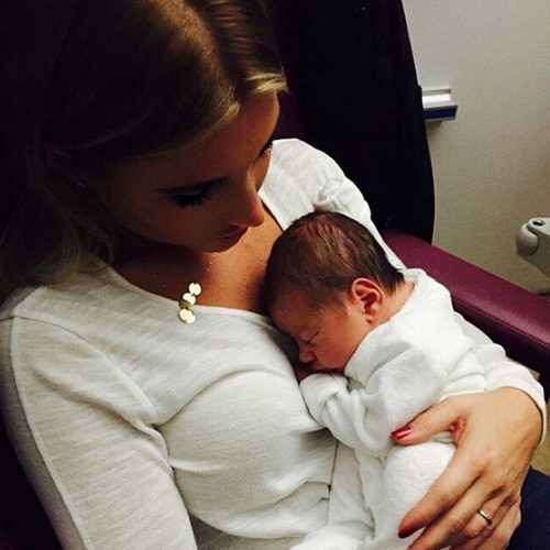 Billie Faiers shared a cute snap of herself and her newborn nephew