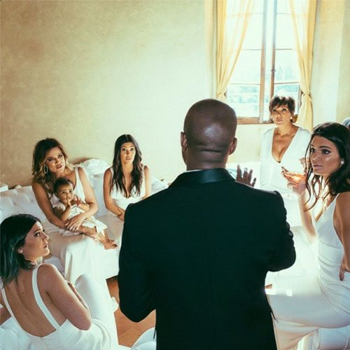 Kanye West was no doubt offering the Kardashian-Jenner family some stellar words of wisdom before making an honest woman of Kim