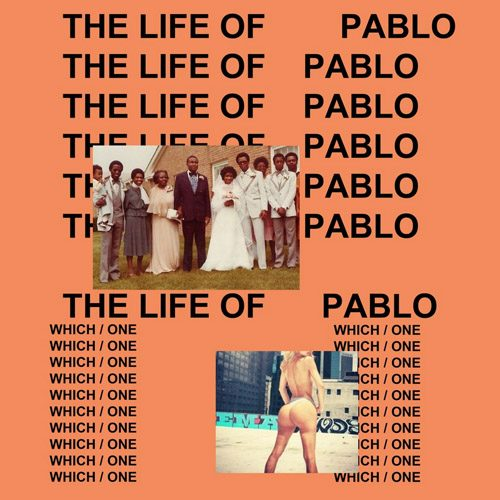 Sheniz Halil's bottom features on the The Life Of Pablo cover