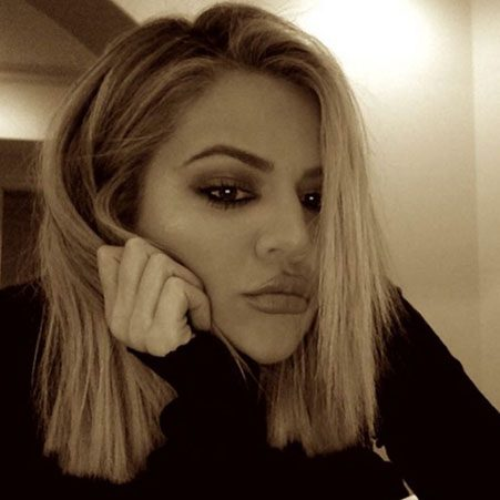Khloe Kardashian posts a glum selfie after her brother Rob's hospital dash