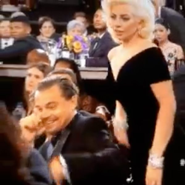 Leonardo DiCaprio and Lady Gaga had a bit of an awkward encounter at tonight's Golden Globes