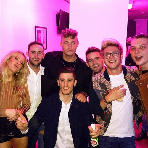 Scotty T shared his snap from a night out with Ellie Goulding and Niall Horan