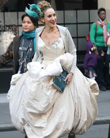 SJP films the wedding scene for the 'Sex And The City' film