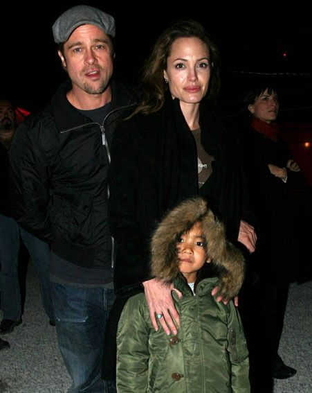 Brad, Angelina and Maddox