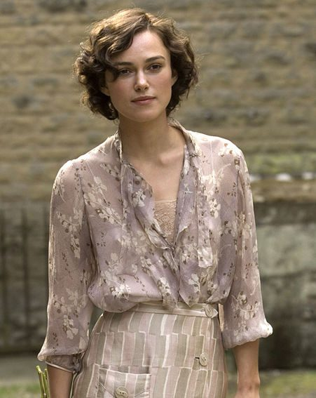 Keira Knightley in Atonement, nominated for Best Motion Picture