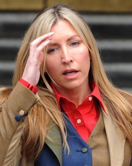 Heather outside court yesterday