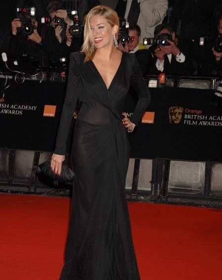 Sienna Miller stole most of the attention on the red carpet