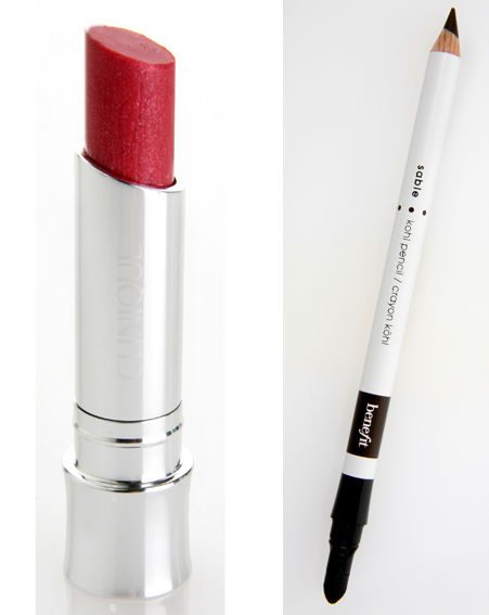 BeneFit Kohl Pencil in Sable and Clinique Colour Surge Butter Shine Lipstick in Rosalita