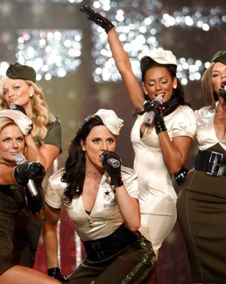 The Spice Girls perform at the Victoria`s Secret Fashion Show 2007 in Hollywood, California