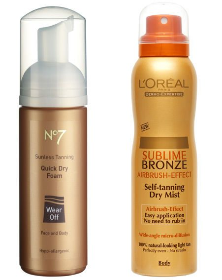 No7 Quick Dry Foam and L?Oréal Sublime Bronze Self-Tanning Dry Mist