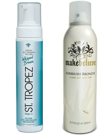 St Tropez Self Tanning Mousse and Makebelieve Self Tan