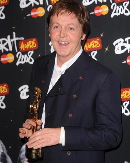 Paul McCartney was awarded with the Outstanding Contribution To Music award
