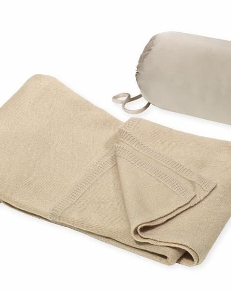 Molton Brown Cashmere Travel Throw with Silk Bolster, £395