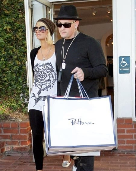 Paris and Benji shopping together in Hollywood