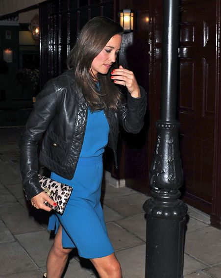 Pippa Middleton dined at a Mayfair restaurant before heading to a private members club