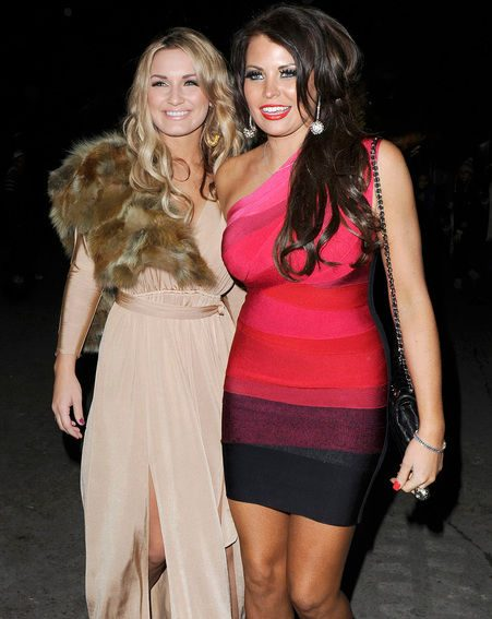 Sam with Mark Wright's sister Jess