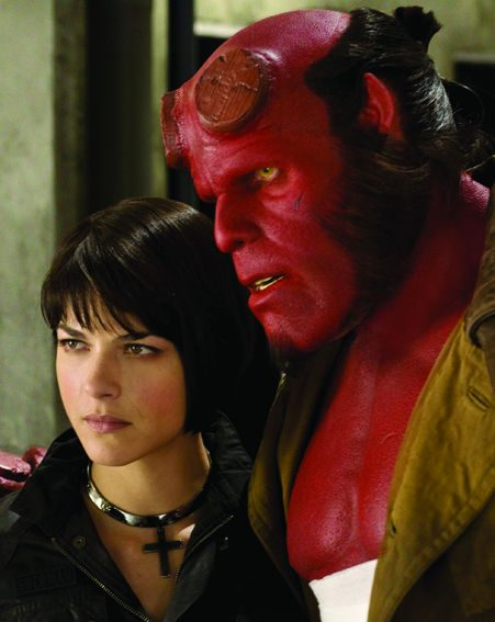 Can love get any tougher? Liz (Selma Blair) and Hellboy (Ron Pearlman)