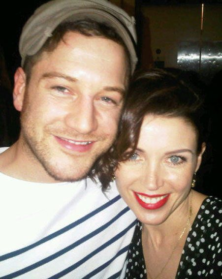 Matt Cardle and Dannii Minogue were reunited at the Kylie Minogue concert last night