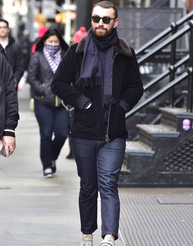 Sam Smith was keeping a low profile in New York following the Oscars controversy