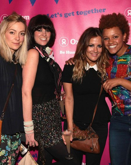 Caroline Flack enjoyed a cocktail with her friends last night, despite starting a juice diet