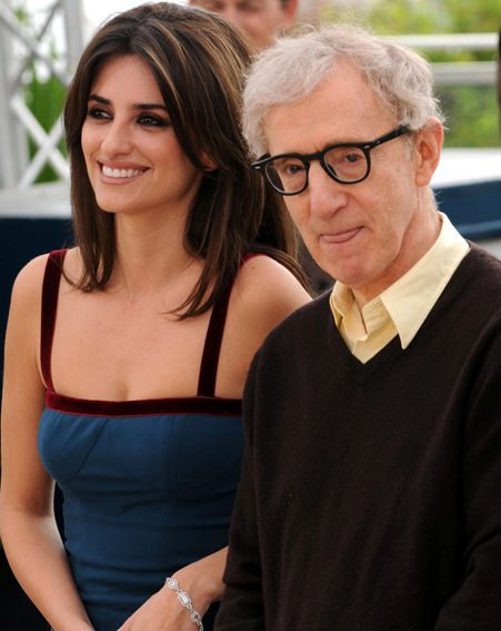 The actress with director Woody Allen