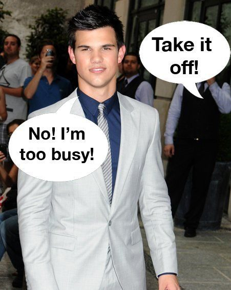Eclipse star Taylor Lautner will not be appearing in the next X Men movie (Pics: wenn.com)