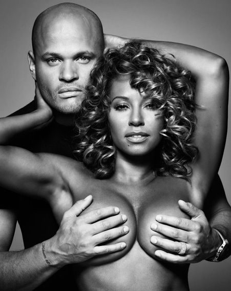 Spice Girl Mel B posed topless with husband Stephen Belafonte protecting her modesty (Ben Riggott)