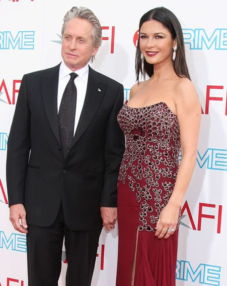 Her husband Michael Douglas celebrates his 65th birthday on Thursday