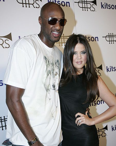 Khloe Kardashian remains by Lamar Odom's hospital beside as he fights for life