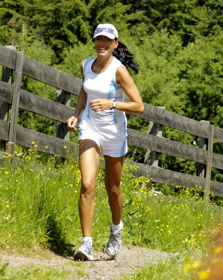 Running and walking helps tone legs, make sure you wear good shoes