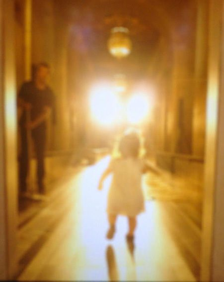 Victoria Beckham showed off this gorgeous picture of Harper testing the runway out for her mummy