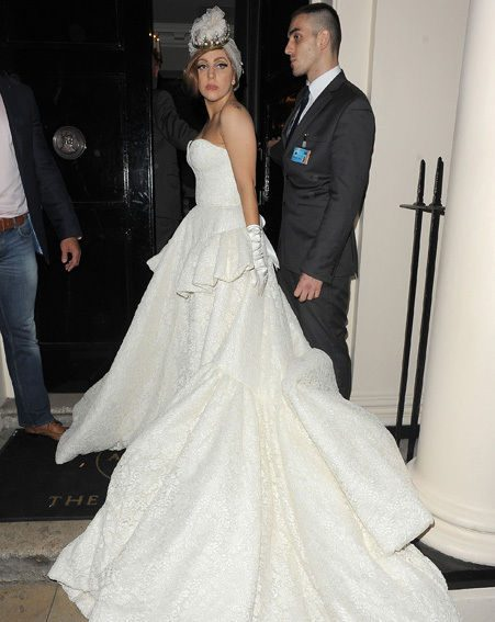 The Paralympics Closing Ceremony afterparty was graced by Gaga in her huge white gown