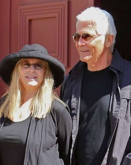 Barbra Streisand and husband James Brolin married in their 50s