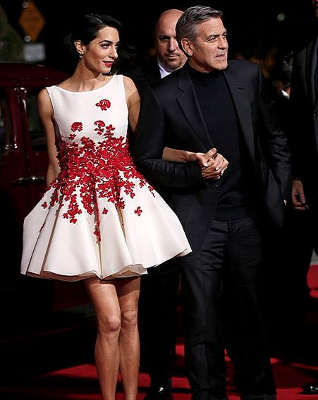 Amal Clooney takes the spotlight alongside George at at LA premiere of his film Hail, Caesar!