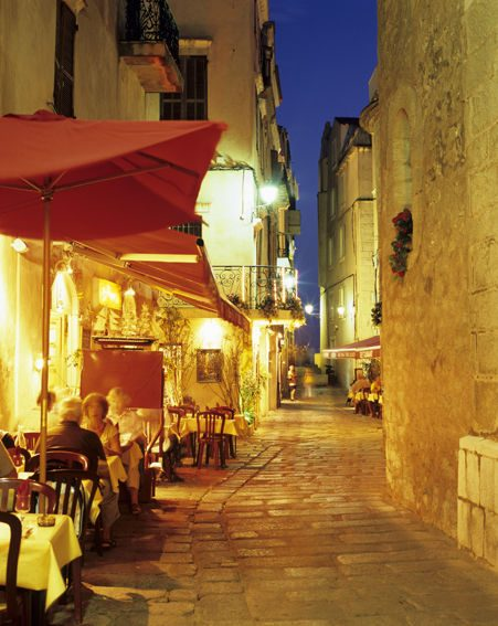 Evening cafe scenes in Corsica