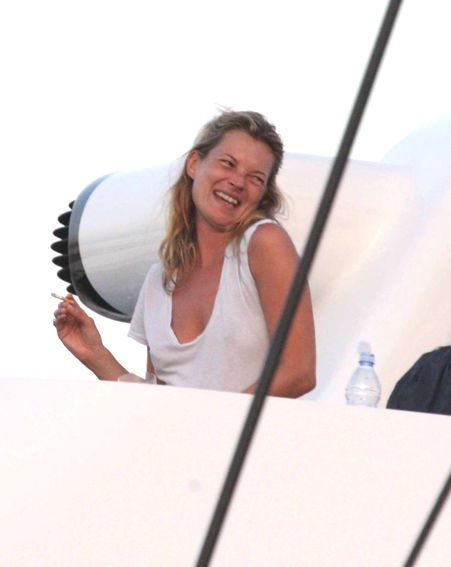 Kate looked happier than ever on the yacht