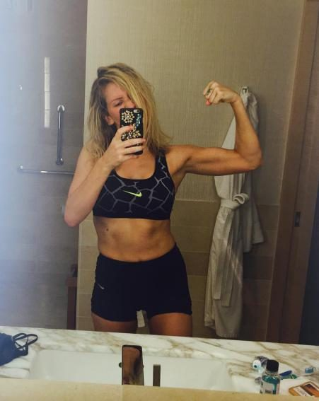 Ellie takes her fitness very seriously but admits she hasn't always looked after herself