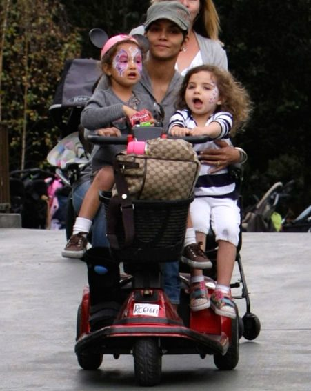 Halle Berry with daughter Nahla and a friend