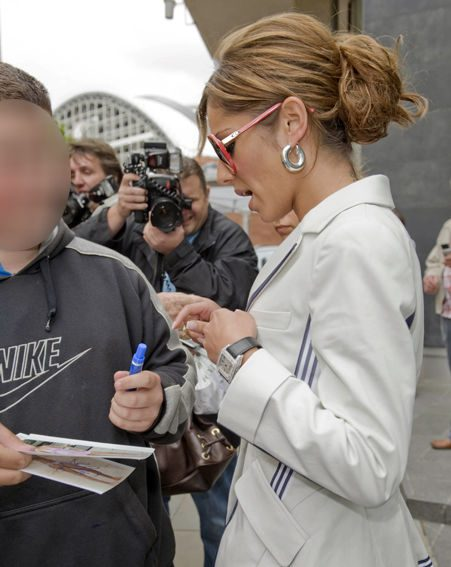 Cheryl is always happy to sign autographs