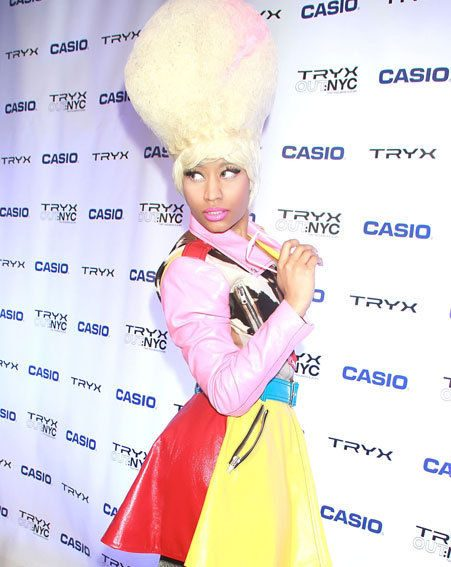 Nicki Minaj kind-of resembled a Mr Whippy with her latest hairdo